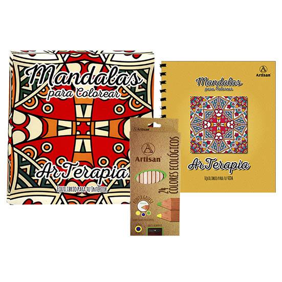Set De Mandalas Y Colores Ecologicos Artisan X 24 Unidades